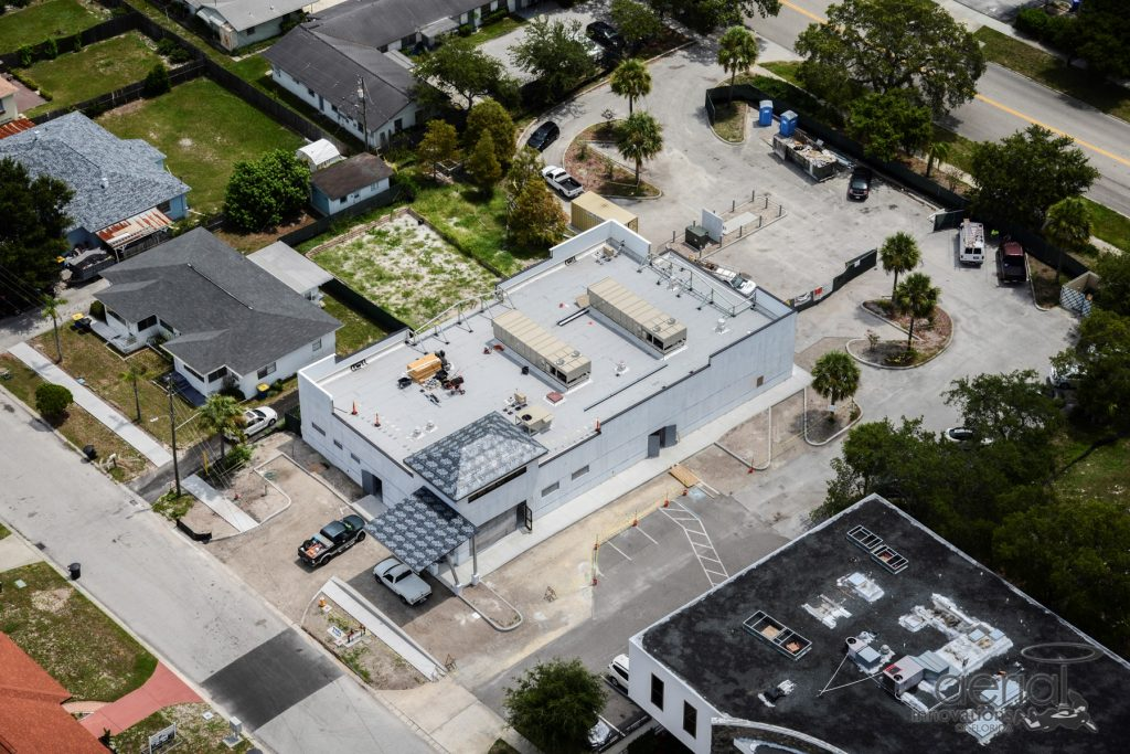 Aerial shot of the new Clearwater facility